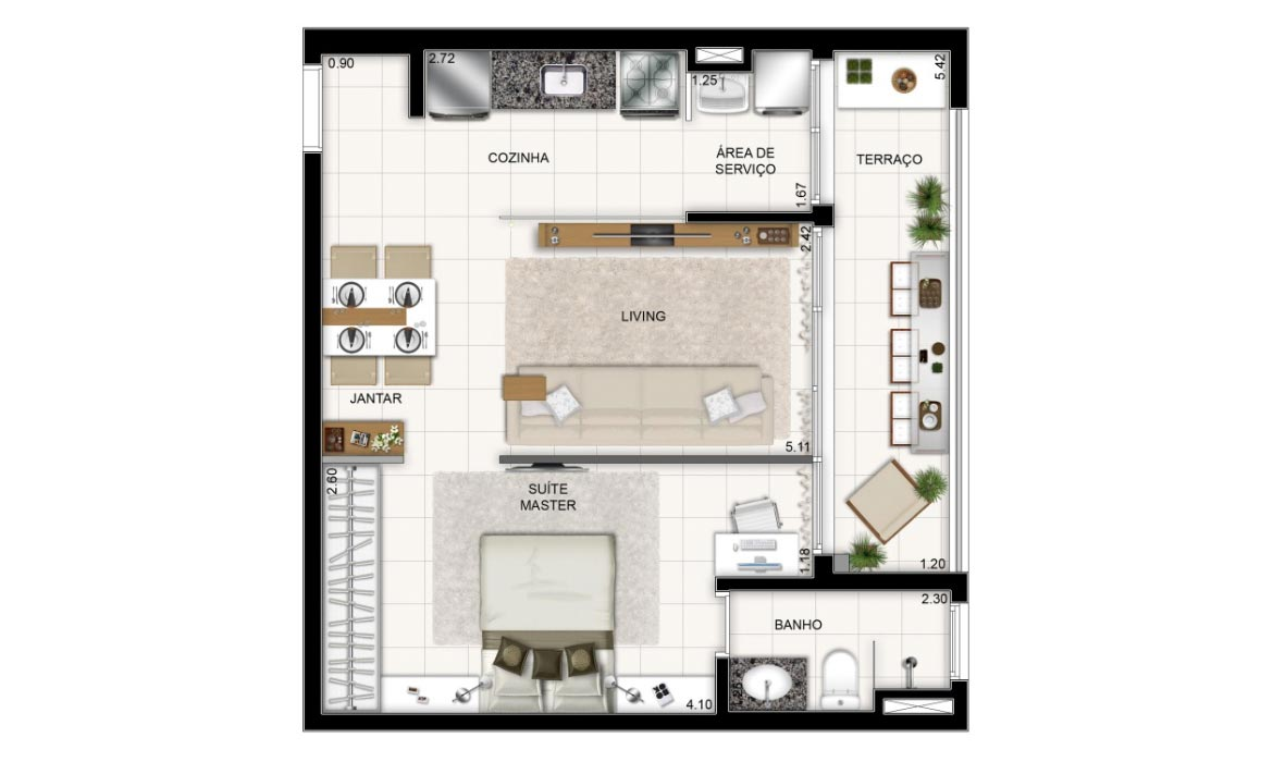 Trend Home & Office - 1 Dorm