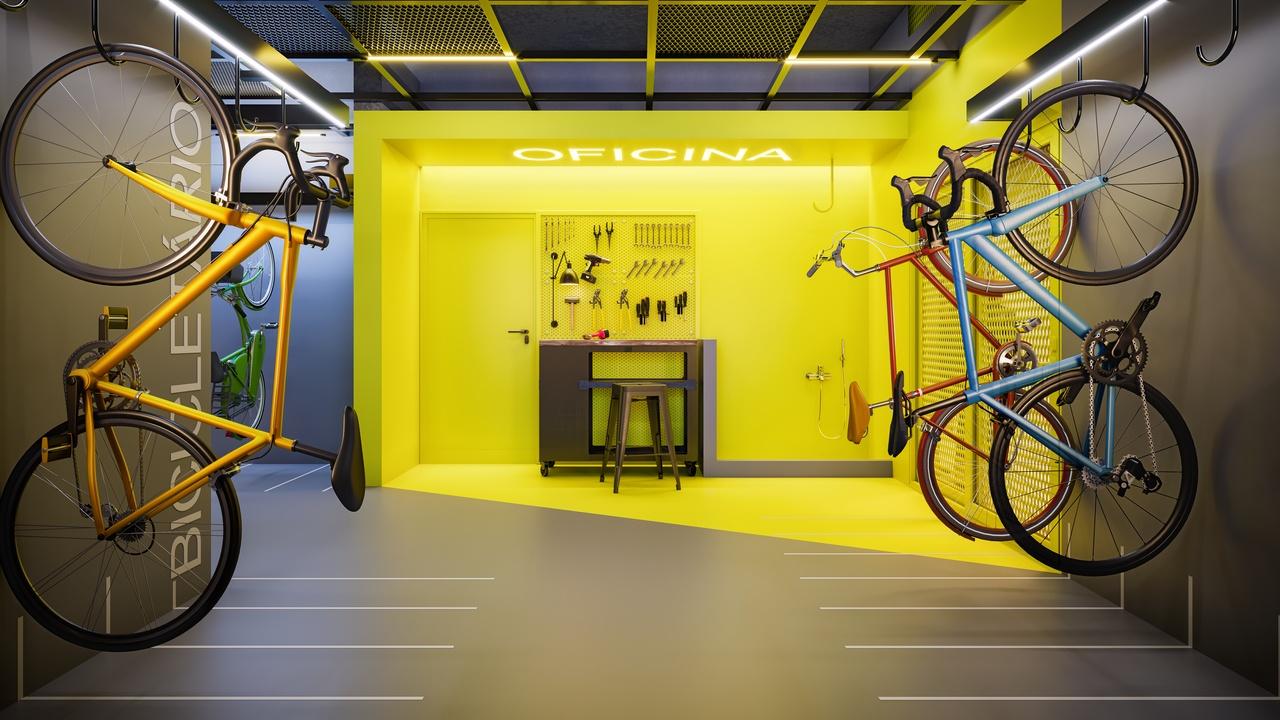 Foto Bicicletário