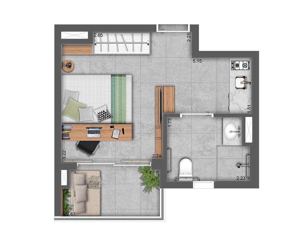 Studio NR 25m²